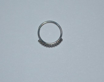 Silver Nose Ring - Ear,Cartilage,Helix,Tragus 20 gauge hoop earring. Handcrafted 20g jewelry