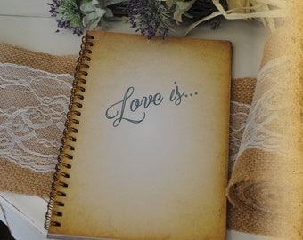 Journal, Writing Journal, Bible Journal, Christian Journal - Love Is, Custom Personalized Journals Vintage Style Book