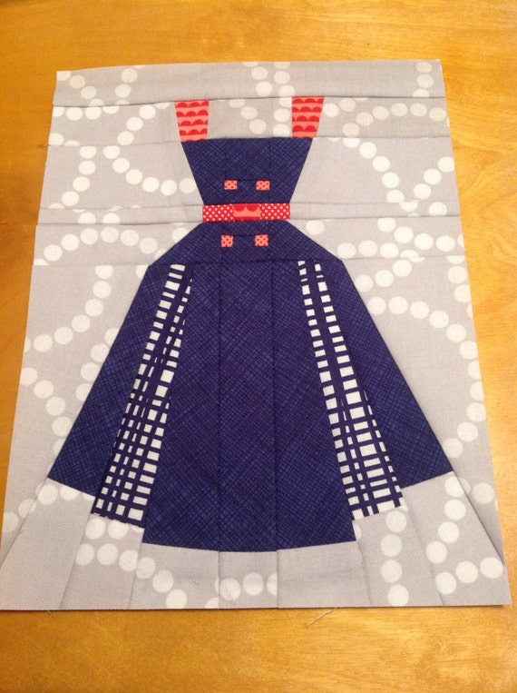 Annette Vintage Dress Paper Piecing Or Foundation Piecing