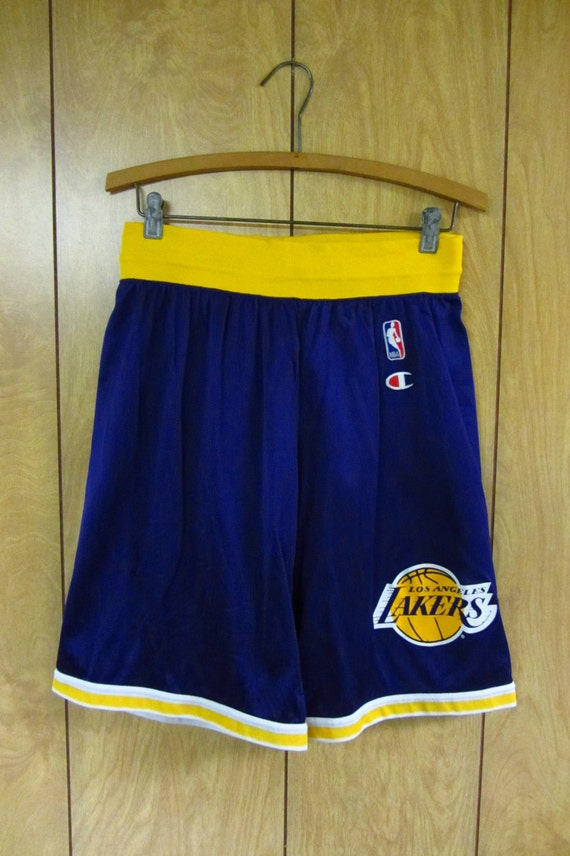 vintage los angeles lakers basketball shorts vintage 80 s