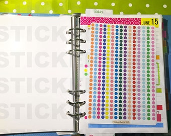 375 Small Circle Dots Stickers (ideal for planners and scrapbooking)