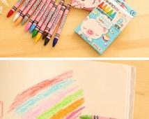 Crayon Set | Kawaii Stationery | Colouring Crayon Set