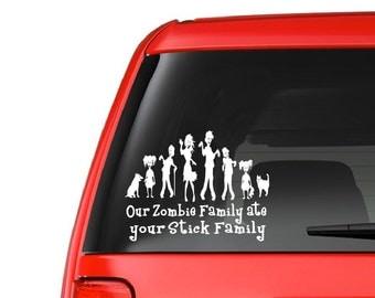 Zombie Family (F12) Vinyl Decal Sticker Car/Truck Laptop/Netbook Window