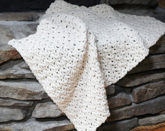 Crocheting Pattern THE FRANCONIA Chunky Throw Lap Blanket