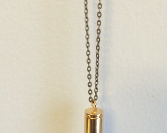 Jasper Crystal Bullet Necklace
