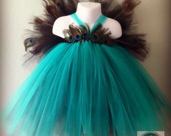 Peacock Tutu Dress, Peacock costume,Halloween Costume, Turquoise tutu dress, Flower girl dress, Flower girl tutu dress, Tutu dress