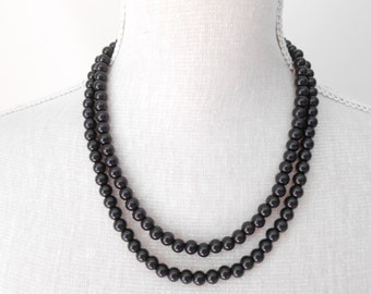 Black pearl necklace, Birthday present