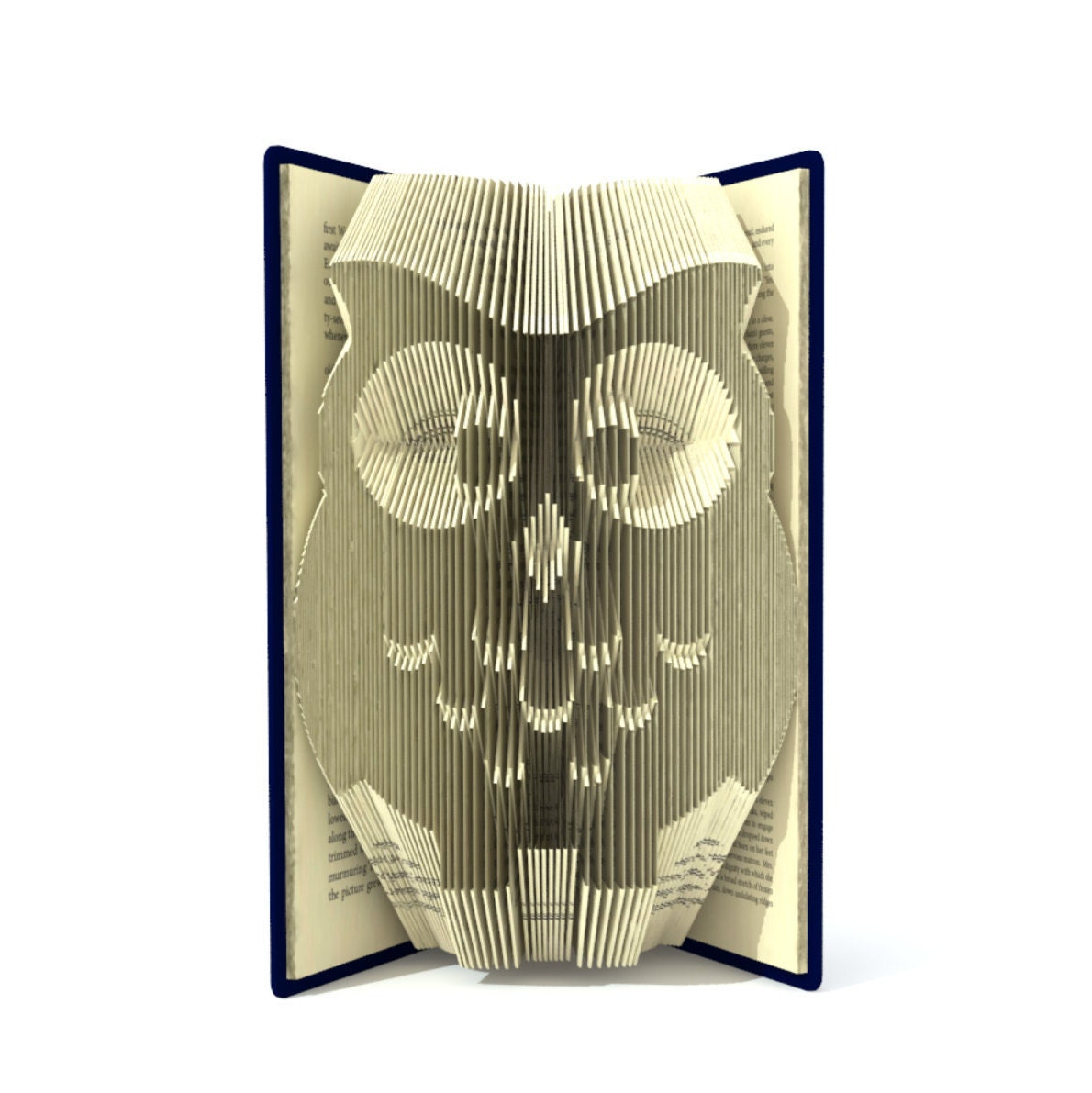 Book fold pattern - OWL - 2 different sizes included 189 ... - photo#30