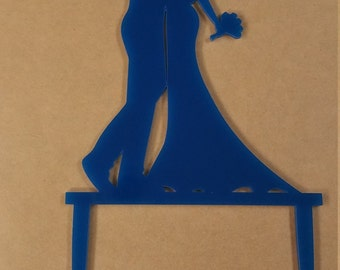 Custom Laser Cut Wedding Cake Topper with Made In USA