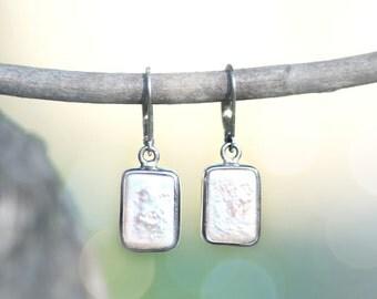 Baroque Cultured Freshwater Pearl Sterling Silver Earrings