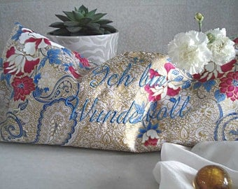 Pillow pleasure, relaxing cushion, yoga pillows, relax pillow, personalized with mantras, affirmation & wishes, handmade with love made