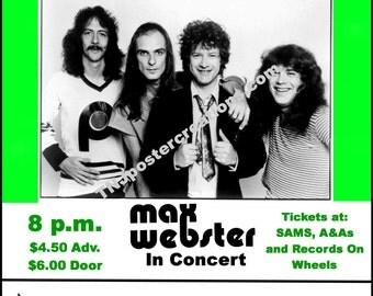 Max Webster Concert Poster-Coronet Motor Hotel Kitchener Ontario