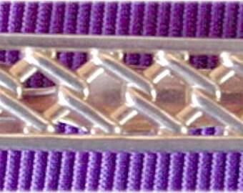 Gold Openwork Tie Clip, Swank