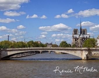 Paris Panoramic, Paris photography, Paris landscape photo, French photography, Paris, affordable gift, home decor, office decor, travel art