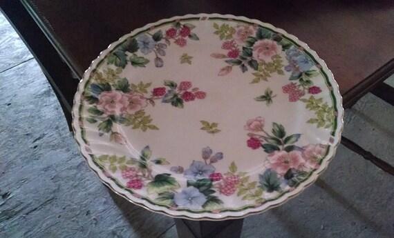 Vintage Exceed Bon Grand Berry Cake Plate, Vintage Made in Japan Serving Plate, Porcelain Floral Design Platter
