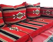 Arabic Bedunine Orient, Oriental, Oriental sitting areas, seat cushions, Oriental furniture, floor cushions, 5 original Oriental, shisha furniture