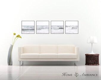 Fine art sea set, Set of 4 prints, large wall art, gallery canvas set, seascape, beach photography, coastal photo prints, sea decor, ocean