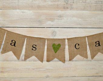 Wedding Banner, Bride and Groom Burlap Banner, Bunting, Garland, Wedding Banner, Bridal Shower Decoration
