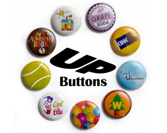 """Disney's Up Inspired 1"""" Button Set"""