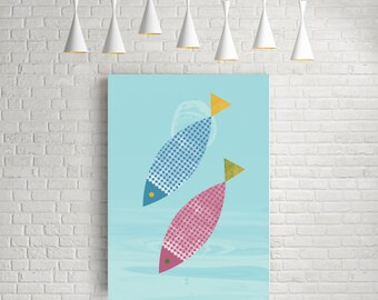 Kitchen art, fish art, kitchen prints, kitchen wall art, fish print, kitchen decor, kitchen poster, kitchen gift, fish poster