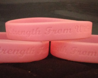 Strength From Within Breast Cancer Bracelet