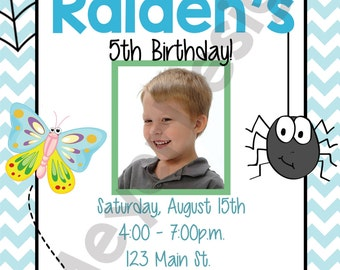 Bug Birthday Invitation - Digital File - Customizable