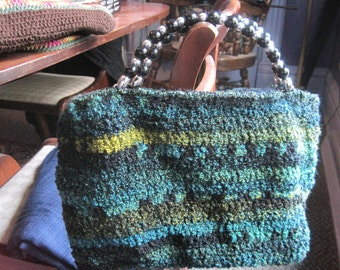 crocheted lined purse