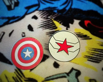 Captain America and Winter Soldier Earrings