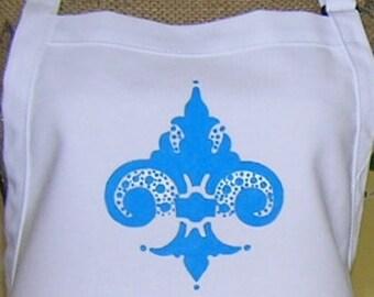 Blue Fleur de Lis Apron
