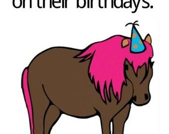 Happy Ending Greetins-Ponies