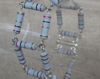 Silver Gray Resistor Bracelet