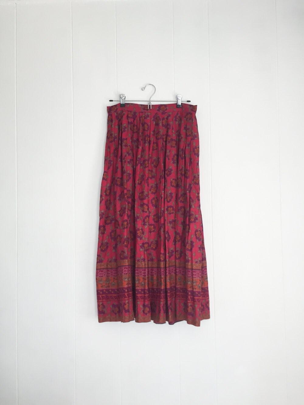 boho skirt gypsie skirt flowy 90s skirt vintage