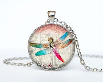Dragonfly necklace Dragonfly pendant Dragonfly jewelry