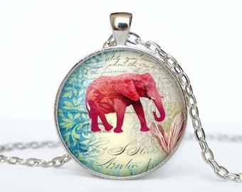 Elephant  necklace Elephant pendant Elephant jewelry