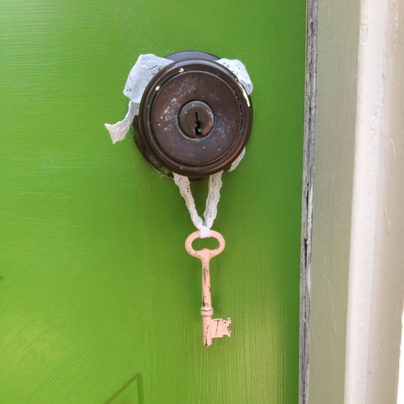 Antique Skeleton Key Skeleton Key Decor Wall Decor Door Knob