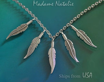Feather Charms (10), Tibetan Silver Feathers, Curved Feather Charms, Small Feather Pendant, Double Sided Charms, Bracelet Feather Findings