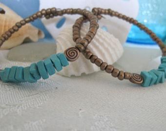 Stackable seed bead bracelets