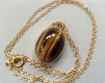 Sorrento Oval Tigers Eye Necklace