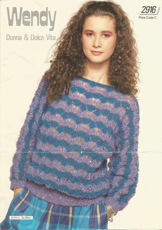 Wendy Knitting Patterns Free : Vintage Wendy Knitting Pattern 2916 Donna & Dolce Vita PDF