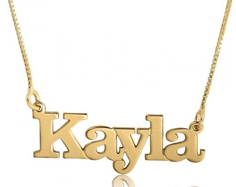 Gold Plated Name Chain Name Pendant Necklace Gold Plated Name Locket Necklace Name Necklace Name Pendant Font Necklace Bridesmaids Gift