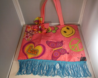 One of a Kind Pink Peace Purse