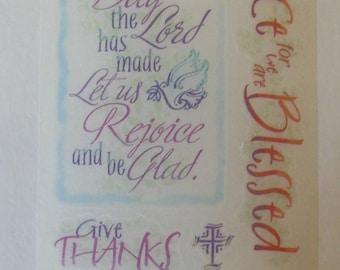 Miss Elizabeths Jesus Loves Me Faith Vellum Sticker Sheet Single Sided Acid Free Lignin Free