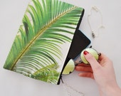 Tropical Palm printed Makeup accessory / clutch bag