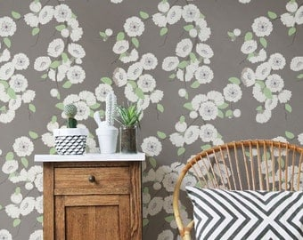 Peony Pattern Wallpaper Removable Wallpaper Peony Wallpaper - Wall decals like wallpaper
