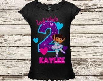 Dora Birthday Shirt - Dora Ballerina Birthday Shirt