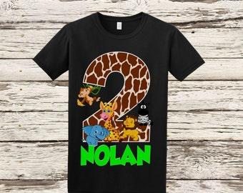 Safari Jungle Birthday Shirt - Safari Birthday Shirt