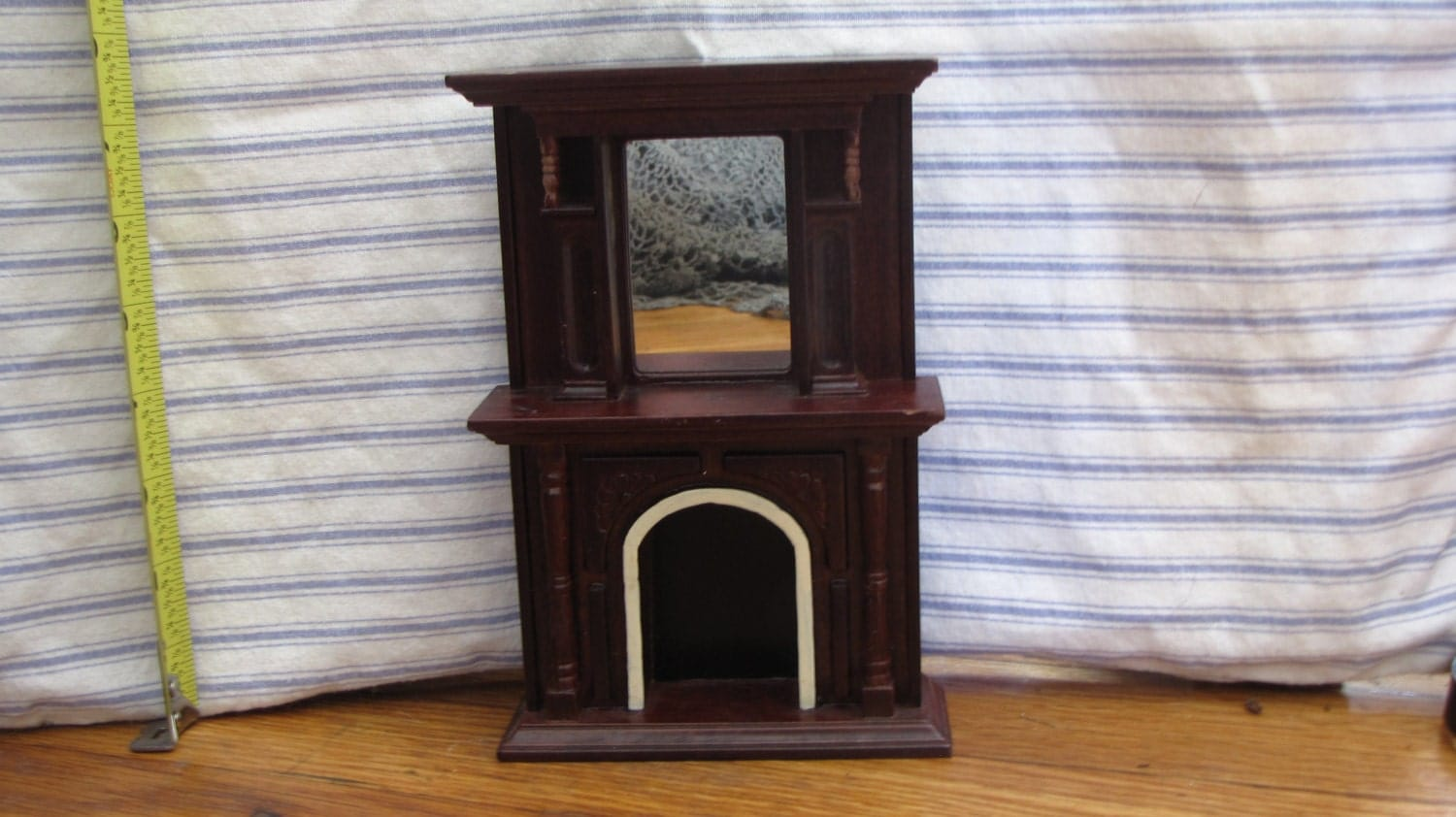 Dollhouse Furniture Wooden Mantel