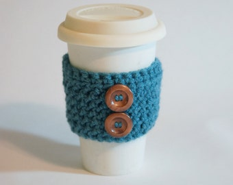 Dusty Blue Coffee Cozy