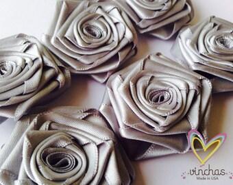 FREE SHIPPING,Wholesale satin ribbon roses,decoration,fabric flowers,roses,wedding,vintage baby headband,satin,wholesale fabric flowers