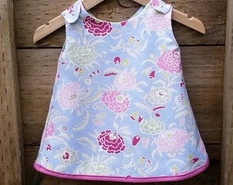 Gypsy Flowers - Reversible Baby or Toddler Dress